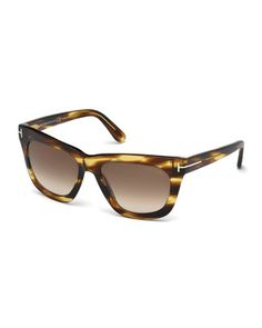 bd006295fb4c Celina T-Temple Polarized Sunglasses Brown Stripes