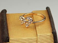 18K RGP Swarovski Crystal Butterfly Cocktail Ring - Rings - Jewelry Free shipping