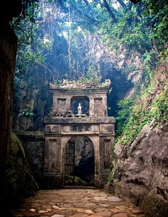 The incredible marble mountains of Vietnam.  My husband wanted to visit here because during the war he was stationed here/near here, so he wanted to go back.  This is outside Hoi An near DaNang, Vietnam.