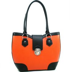 Classic Two Tone Shoulder Bag W/ Buckle Snap « Clothing Impulse
