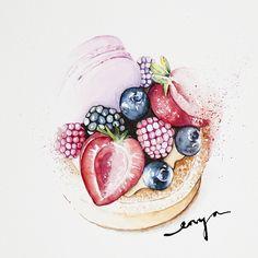Fruity macarons tart