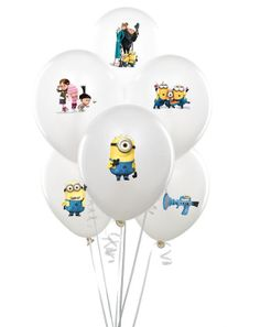 Despicable me Balloon stickers INSTANT DOWNLOAD, minion decorations, despicable me birthday, Despicable me 2,  minion party