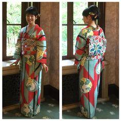 「昨日は#旧前田侯爵邸 へ#邸宅で見るアンティーク着物展 の視察に行ってきました 館内は冷房も効いていて、もし暑い日でも安心していらしてくださいねっ そしてコーデは矢羽根に花丸紋のお着物に百合の帯でした✨ #着物 #kimono #きもの #アンティーク着物 #japanesefashion #japan」