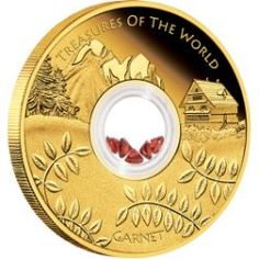 Treasures of the World – Europe 2013 1oz Gold Proof Locket Coin with Garnet | The Perth Mint
