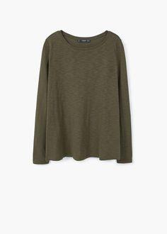 Maglietta cotone melangiata | MANGO