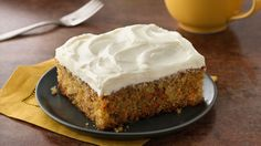 Betty Crocker's Ultimate Cake Mix Cookbook shares a recipe! Here's home-baked carrot cake without the hassle of shredding carrots.  Yum!