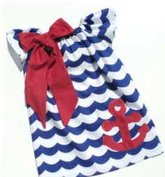 Girls chevron and anchor dress