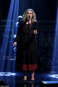 Powerhouse: #Adele performed her new single Water Under The Bridge on the Tonight Show With Jimmy Fallon on Monday night