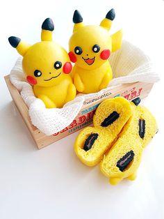 Wan Wan Tea: steamed pumpkin Pikachu Pikachu Deco Pumpkin Steamed Buns