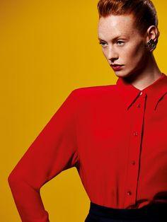 Publication: Elle Russia September 2015.   Model: Chantal Stafford-Abbott.   Photographer: Ben Morris.   Fashion Editor: Renata Kharkova.   Hair: Kenna.   Make-up: Cynthia Sobek.