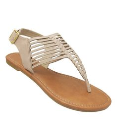 Look at this Yoki Beige Patti Sandal on #zulily today!