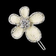 barrette coiffure mariage fleur de tiare en perles