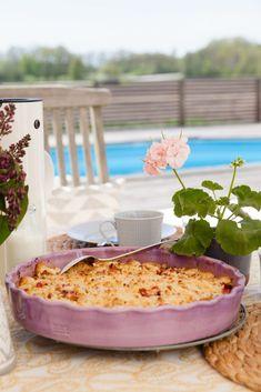 Rabarberpaj Bagan, Chutney, Best Rhubarb Recipes, Grandma Cookies, Ketchup, Easy To Make Desserts, Swedish Recipes, Pie Dessert, Muffins