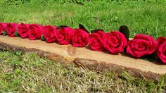 RED Paper Flowers Wedding  flowers table by moniaflowers on Etsy