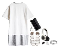 """""""a dot burr"""" by nyesiah ❤ liked on Polyvore featuring Worthington, SMS Audio, Monki and Topshop"""