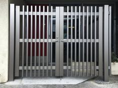 Gate Series — KunkelWorks Grill Gate Design, Steel Gate Design, Front Gate Design, Front Gates, Entrance Gates, Room Door Design, House Design, Gallery Wall Layout, Gabion Wall