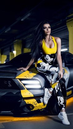 Ideas Beautiful Cars For Girls Ford Mustangs Bmw, Audi, Chevrolet Corvette, Sport Cars, Race Cars, Car Poses, Mustang Girl, Promo Girls, Grid Girls
