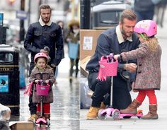 David Beckham and his daughter Harper - Photos - Cutest celebrity kids Moda David Beckham, David Beckham Kids, David Beckham Style, Jessica Biel, David Beckham Daughter, Cute Celebrities, Celebs, The Beckham Family, Funny Pictures Of Women