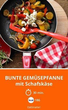 Bunte Gemüsepfanne - mit Schafskäse - smarter - Kalorien: 186 Kcal - Zeit: 30 Min.   eatsmarter.de