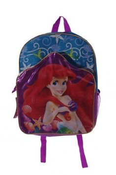 Ariel Backpack Blue ** Continue to the product at the image link. Best Kids Backpacks, Vacation Ideas, Travel Style, Ariel, Diy Fashion, Image Link, Amazon, Blue, Amazons