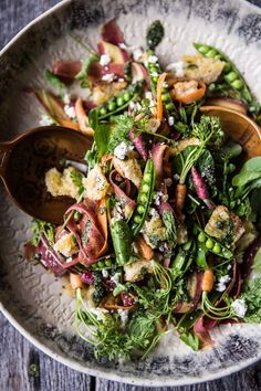 Spring Pea and Carrot Salad with Carrot Top Pesto | halfbakedharvest.com @Half Baked Harvest