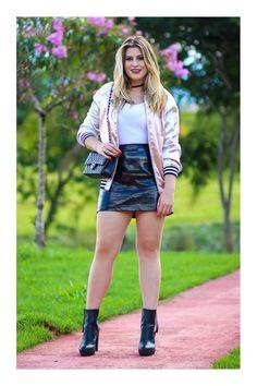 f6e41d16fd Looks con Faldas de Charol Looks Con Falda