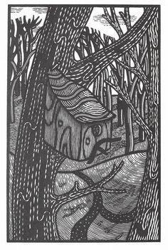 Jonathan Ashworth 'Paths Join' wood engraving http://www.stjudesprints.co.uk/collections/jonathan-ashworth/products/paths-join