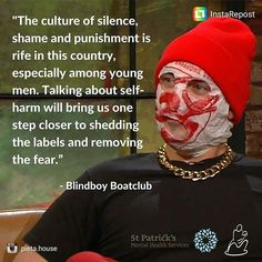 Blindboy Boatclub is a keynote speaker at our March Self-Harm Awareness Conference with @StPatricks. Tickets & info: https://t.co/gNUNTtWa97 #selfharmawareness #rubberbandits #blindboy
