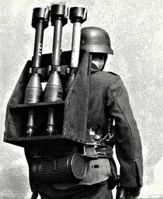 Panzerschreck 88mm rocket carrier.