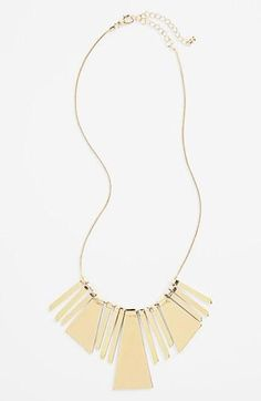 Gold geometric bib necklace