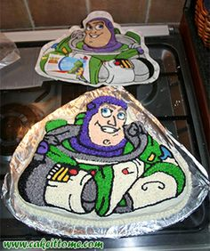 Cake Designs for Kids Birthdays -  Buzz Lightyear Cake #cakedesigns