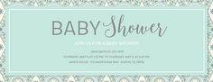 Mosaic Baby Shower Green Invitation