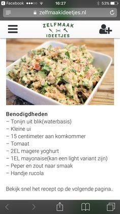 Recept voor gezonde tonijnsalade.