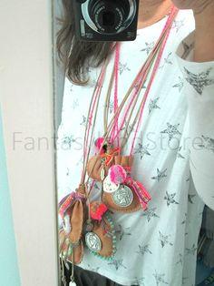 Apache pouch necklace