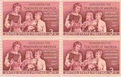 Honoring the Teachers of America Set of 4 x 3 Cent US Postage Stamps NEW…
