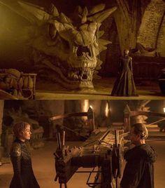 """Balerion The Black Dread. Powerful dragon. But not invincible."" - Qyburn  Game of Thrones, Season 7. Cersei Lannister, Lena Headley"