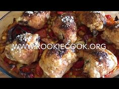 Spanish Chicken Traybake - Rookie Cook -----------------------------------------------------small addition to recipe --> sprinkled some cheese on the chicken and broiled the last minutes. Party Recipes, Spicy Recipes, Yummy Recipes, Chicken Recipes, Healthy Recipes, Kitchen Recipes, Cooking Recipes, My Favorite Food, Favorite Recipes