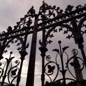 Ottawa Ontario Canada,Decorative Iron Fence Parliament Hill Ottawa stock photography