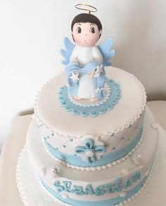 😇 Baby Cocoon, Magdalena, Baby Shower Cakes, Instagram Posts, Biscuits, Desserts, Food, Baptism Cakes, Cake Ideas