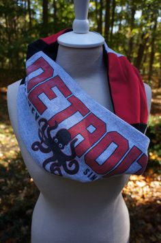 Detroit Red Wings recycled tshirt scarf!
