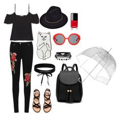 rockin in rain by havelinka on Polyvore featuring WearAll, Boohoo, Preen, RIPNDIP, Totes and Chanel