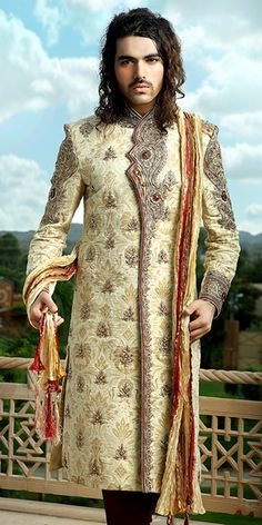 Emperor Look Hand Crafted Sherwani Item code : SSJ8016  http://www.bharatplaza.com/mens-wear/emperor-look-hand-crafted-sherwani-ssj8016.html https://www.facebook.com/bharatplazaportal https://twitter.com/bharat_plaza