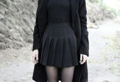 Imagem de clothes, black, and dark