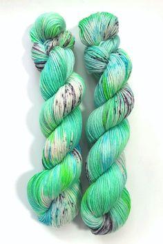Iceland - Merino/nylon sock 6ply, superwash, handdyed, speckled yarn