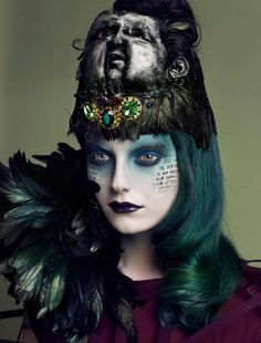 Hype#4 Fall 2011 issue editorial titled 'Witchcraft' - shot by Lado Alexi Hype#4 Fall 2011 issue editorial titled 'Witchcraft' - shot by Lado Alexi #fashion #editorial #dark #gothic #witch #creepy #makeup #beauty #hair