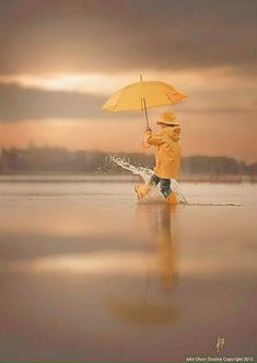 "Rain Rain Go Away by Jake Olson Studios. ""Rain pleases me. both the smell & the feel of rain. I even love the look of rain. Won't you join me, My Beloved? Creative Photography, Children Photography, Photography Studios, People Photography, Light Photography, Classic Photography, Photography Basics, Photography Portraits, Minimalist Photography"