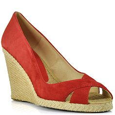 Andre Assous Red Suede Espadrille