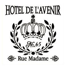 french stencils | French Style Wall Stencil - Hotel De L'Avenir | Buffalo Vintage ...
