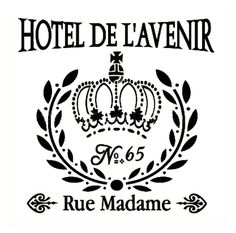 French Style Stencils | French Style Wall Stencil - Hotel De L'Avenir | Buffalo Vintage ...