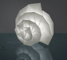 design fabric table lamp IN-EI: TR 011 by Issey Miyake Artemide
